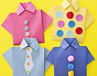 Easy Origami Shirt Card Father's Day