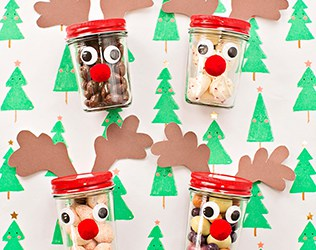 RUDOLPH REINDEER JAR TREATS AND GIFTS